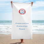 Beach towel logo