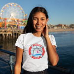 t-shirt-mockup-of-a-woman-on-the-santa-monica-pier-18214
